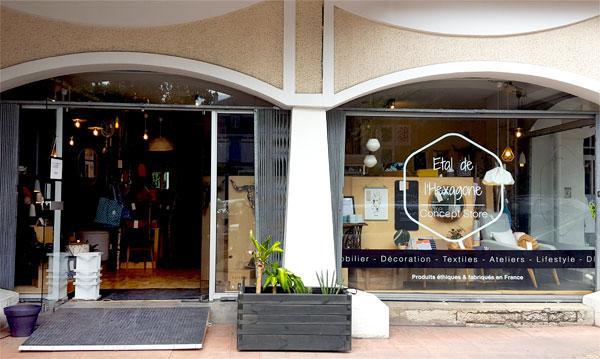 Vitrine du magasin Etal de l'Hexagone à Tarbes, 6 rue Lamartine